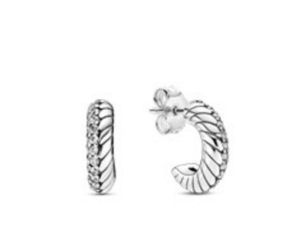Pavé Snake Chain Pattern Hoop Earrings offer at R 1199