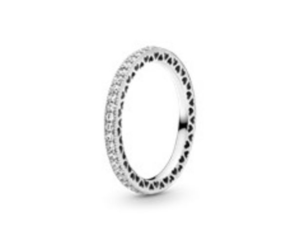 Silver ring with clear cubic zirconia offers at R 1399