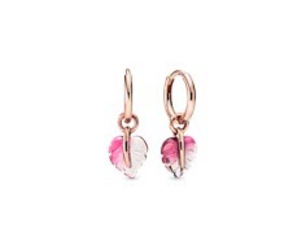Pink Murano Glass Leaf Hoop Earrings offer at R 1199