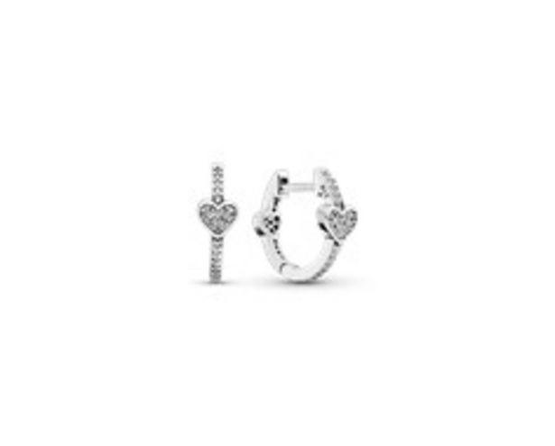 Pavé Heart Hoop Earrings offer at R 1099