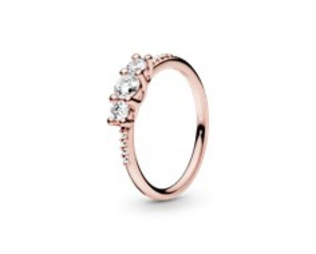 Clear Three-Stone Ring offer at R 1599