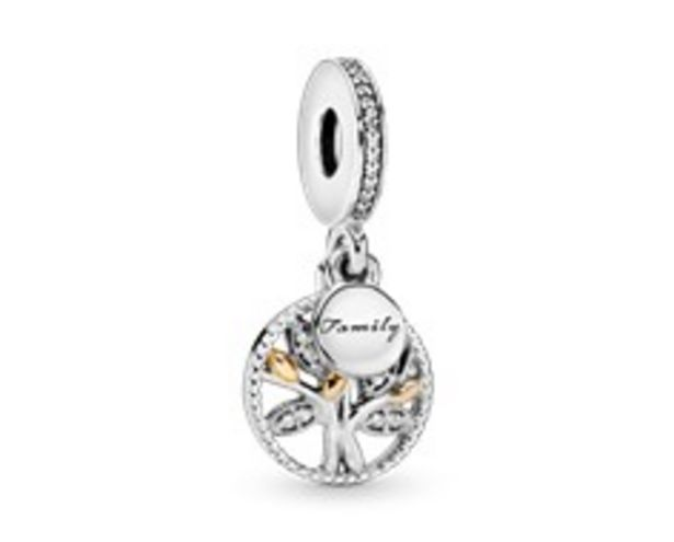 Family tree silver dangle with 14k and clear cubic zirconia offers at R 1199