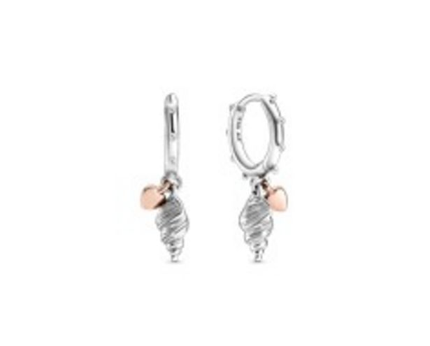 Heart & Conch Shell Hoop Earrings offer at R 1199