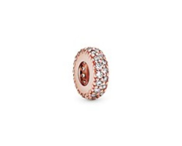 Abstract PANDORA Rose pave spacer with clear cubic zirconia offers at R 779