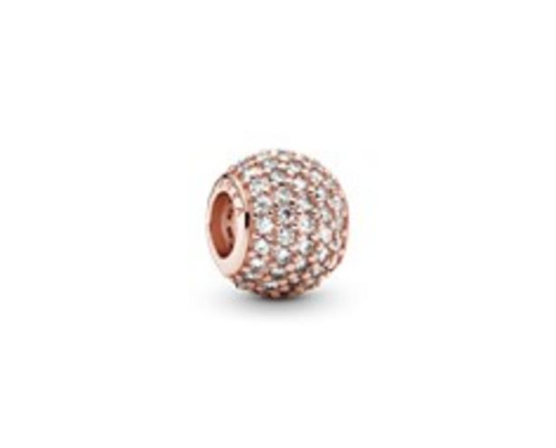 Abstract pave PANDORA Rose charm with cubic zirconia offers at R 1599