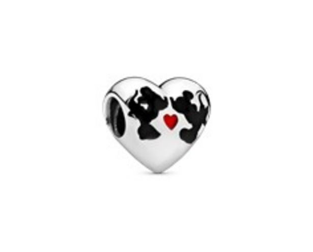 Disney Minnie & Mickey heart silver charm with black and red enamel offer at R 979