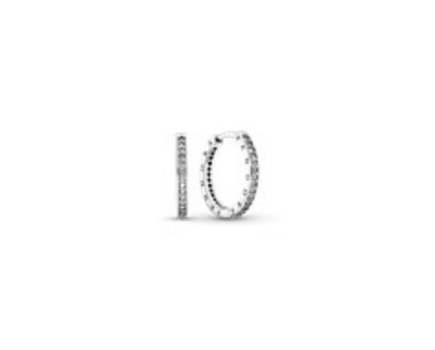 PANDORA silver hoop earrings with cubic zirconia offer at R 1599