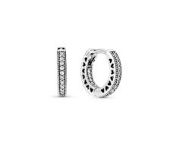 Pavé Heart Hoop Earrings offer at R 1199