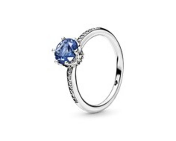 Blue Sparkling Crown Ring offer at R 1399