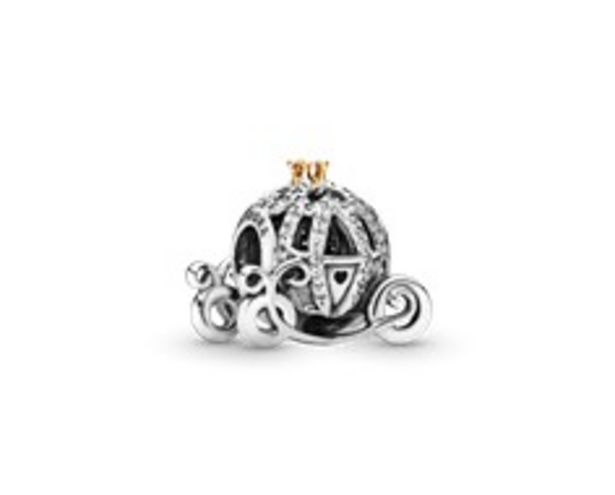 Disney Cinderella pumpkin coach silver charm with 14k and cubic zirconia offer at R 1779
