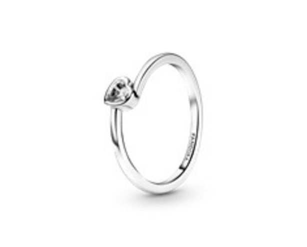 Clear Tilted Heart Solitaire Ring offer at R 779