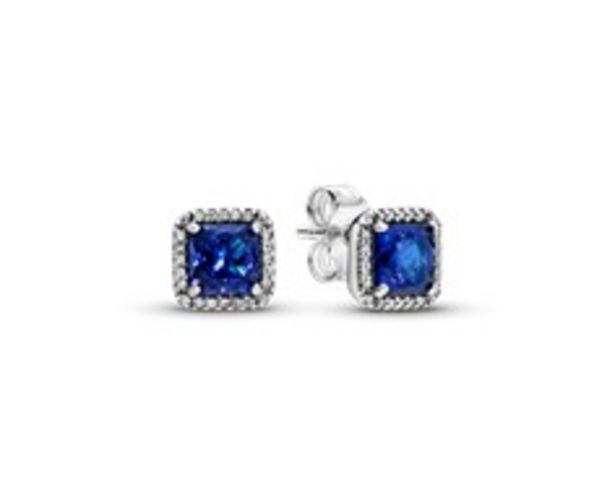Blue Square Sparkle Halo Stud Earrings offer at R 1399