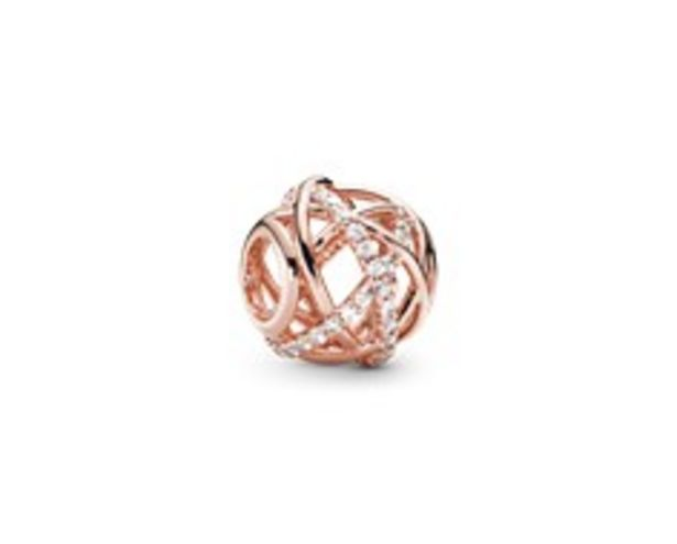 Openwork abstract PANDORA Rose charm with clear cubic zirconia offers at R 1399
