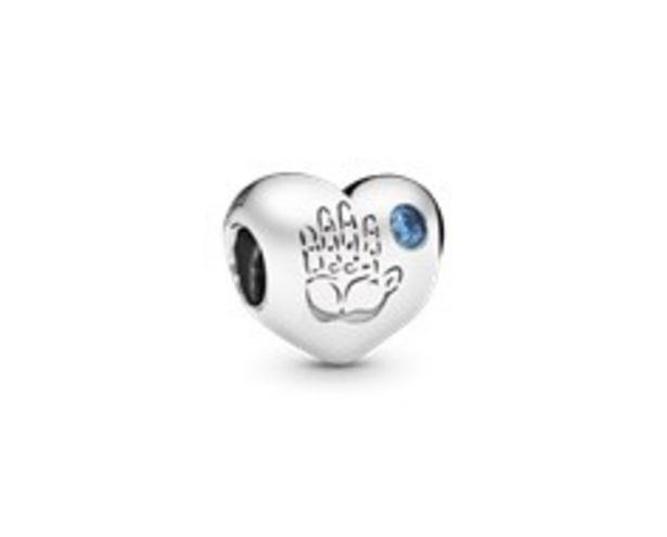 Baby boy silver charm with blue cubic zirconia offers at R 779