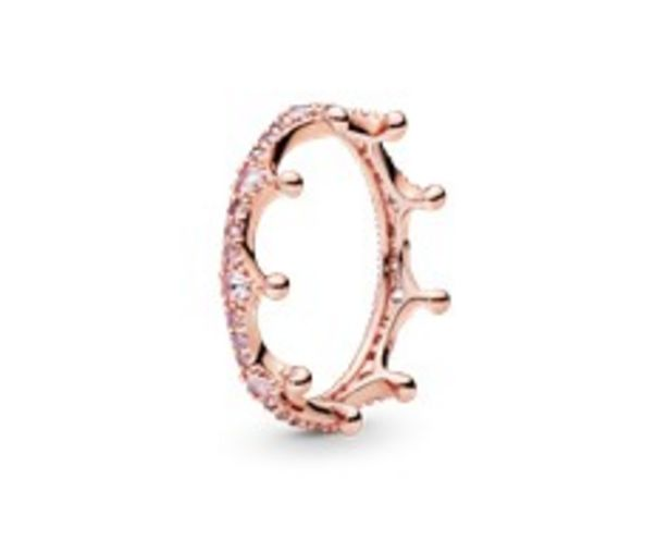 Pink Sparkling Crown Ring offer at R 1779
