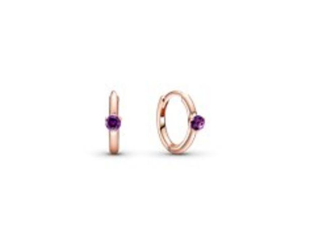Purple Solitaire Huggie Hoop Earrings offers at R 979