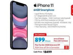 IPhone 11 64GB Smartphone offer at R 899
