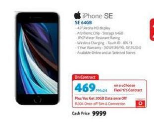 IPhone SE 64GB offer at R 469