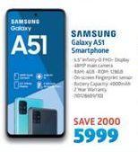 Samsung Galaxy A51 Smartphone offer at R 5999