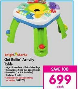 Bright Starts Get Rollin' Activity table offer at R 699