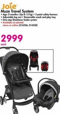 Joie Muze Travel System offer at R 2999