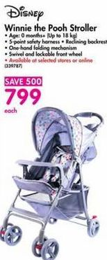 Disney Winnie the Pooh Stroller offer at R 799