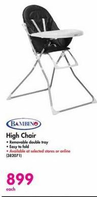 Bambino High Chair offer at R 899