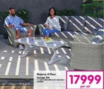 Majorca 4-Piece Lounge Set offer at R 17999
