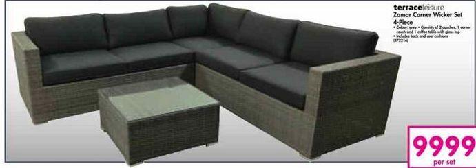 TerraceLeisure Zamar Corner Wicker Set offer at R 9999