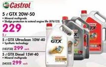 Castrol 5 l GTX 20W-50 Oil offer at R 229
