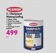 Plascon 5 l Dampseal Waterproofing offers at R 499