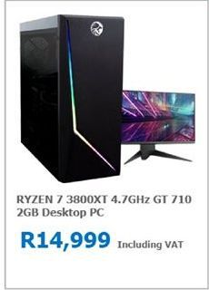 Ryzen 7 Desktop PC offer at R 14999