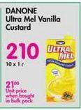 Danone Ultra Mel Vanilla Flavoured Custard  offer at R 210
