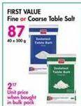 First Value Salt offer at R 87
