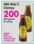 Mrs H.S.Ball's Chutney  offer at R 200