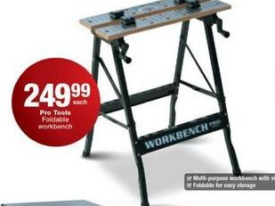 Pro Tools Foldable Workbench offer at R 249,99