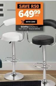 Quality Courtney Bar Stool offer at R 649,99