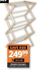 Wooden Concepts Wooden Clothes Dryer offer at R 249,99