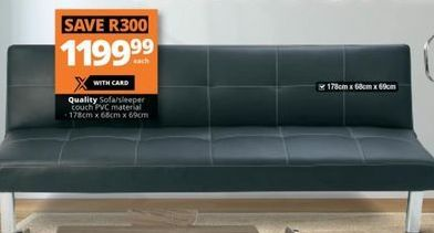 Quality Sofa / Sleeper Couch offer at R 1199,99