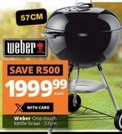 Weber One-Touch Kettle Braai offer at R 1999,99