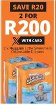 Huggies Little Swimmers Disposable Diapers 2 offer at R 200
