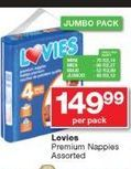 Lovies Premium Disposable Nappies offer at R 149,99