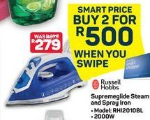 Russell Hobbs Supremeglide Steam and Spray Iron 2 offer at R 500