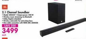JBL 2.1 Channel Soundbar offer at R 3499
