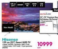 Hisense 55'' Smart ULED TV offer at R 10999