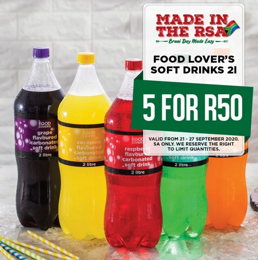 Food Lover's Soft Drinks 5 offers at R 50