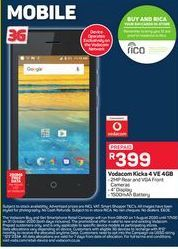 Vodacom Kicka 4 VE 4 GB offer at R 399