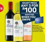 Millstream Sauvignon Blanc, Chenin Blanc, Rose or Cinsault Ruby Carbernet 3 offer at R 100