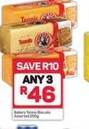 Bakers Tennis Biscuits 3 offer at R 46