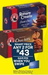 Bakers Romany Creams Biscuits 2 offer at R 43